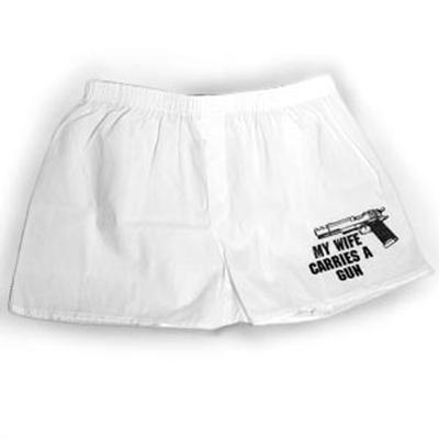 Click to get 'My Wife Carries a Gun' Boxers