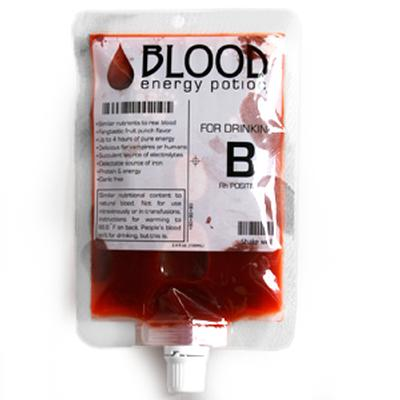 Click to get Synthetic Blood Energy Drink in an IV