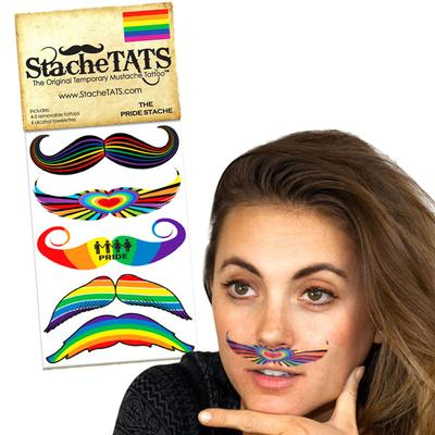 Click to get Stache Tats Pride Temporary Mustache Tattoos