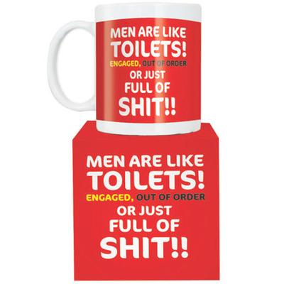 Click to get Men Are Like Toilets Giant Mug