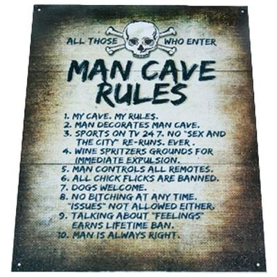Click to get Man Cave Rules Metal Sign