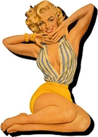 Click to get Marilyn Monroe Pin Up Magent