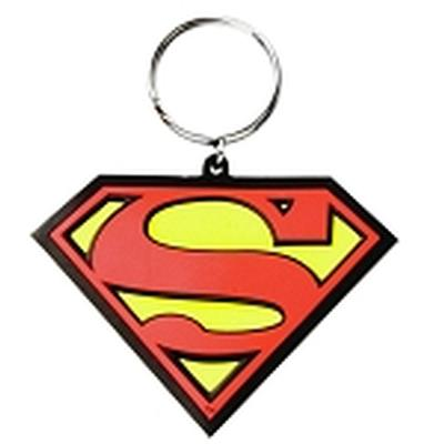 Click to get Superman Logo Color PVC Keychain