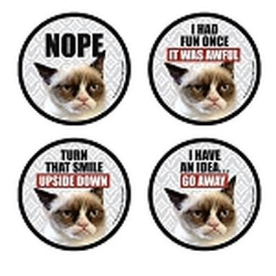 Click to get Grumpy Cat Coasters 4 piece set