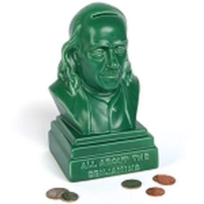 Click to get Benjamin Franklin Bust Bank