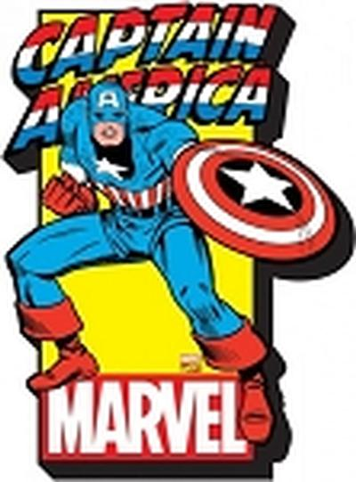 Click to get Marvel  Captain America w Logo Funky Chunky Magnet