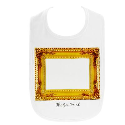 Click to get Little Spills Bib The Goo Period Gold Frame