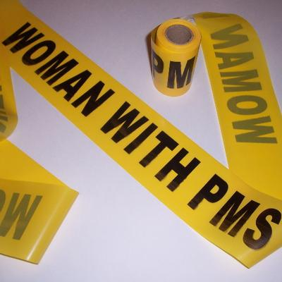 Click to get Woman with PMS Crime Tape