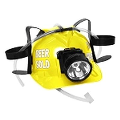 Click to get Beer Sold To Miners Lighted Drinking Helmet Yellow