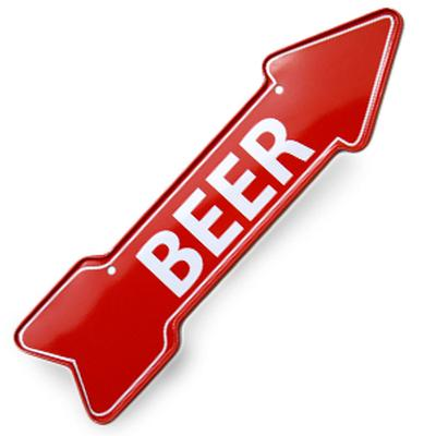 Click to get Beer Arrow Magnet