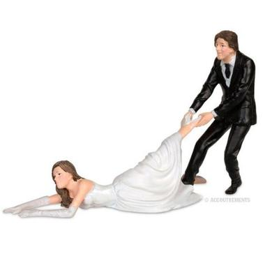 Click to get Reluctant Bride Cake Topper