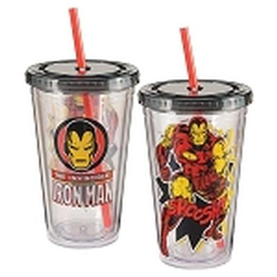 Click to get Marvel Iron Man 18 oz Acrylic Travel Cup