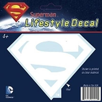 Click to get Superman Logo Car Decal White