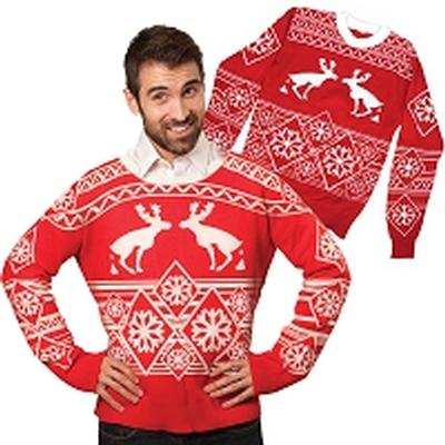 Click to get Ugly Christmas Sweater Pooping Moose