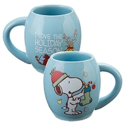 Click to get Snoopy Holiday Oval Mug