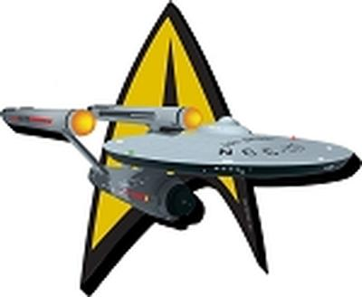 Click to get Star Trek Ship and Logo Magnet
