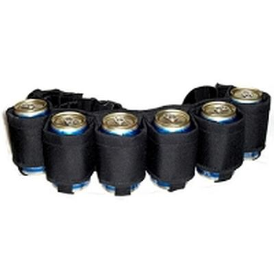 Click to get Beer Belt 6Pack  Black