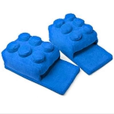 Click to get Lego Block Slippers Blue