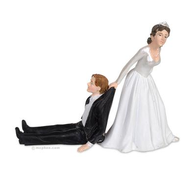 Click to get Reluctant Groom Cake Topper